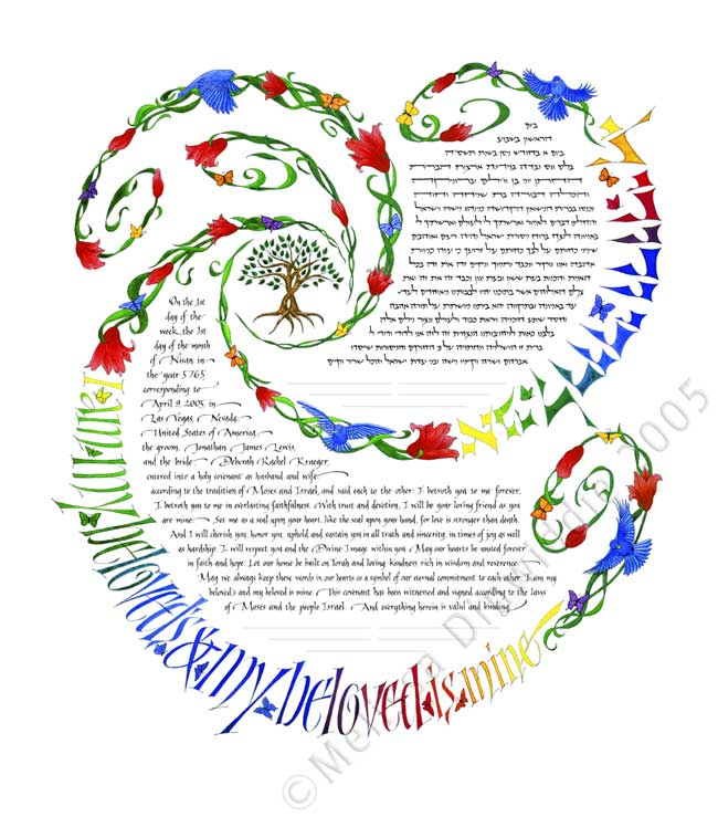 Spiral of Life Ketubah (Spectrum color)
