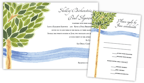 Exclusive invitations to match your ketubah