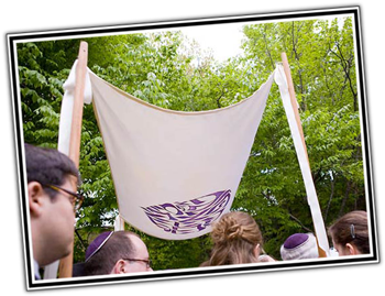 Chuppah canopies to match your ketubah