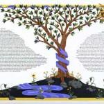 Blue Tree Ketubah - Custom Ketubah ©Melissa Dinwiddie
