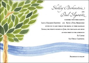 Pastoral Invitation Design (to match Pastoral Ketubah)