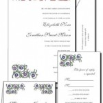 Illuminated Letters wedding invitations