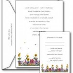 Summer Flowers wedding invitations