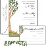 Twin Trees wedding invitations