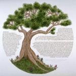 Oak Tree Ketubah - Custom Ketubah ©Melissa Dinwiddie