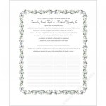 Square Wreath Quaker Wedding Certificate
