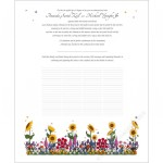 Summer Flowers Quaker Wedding Certificate